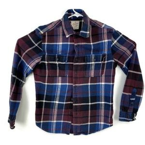 American Eagle Outfitters Shirts - American Eagle Blue Purple Flannel Shirt